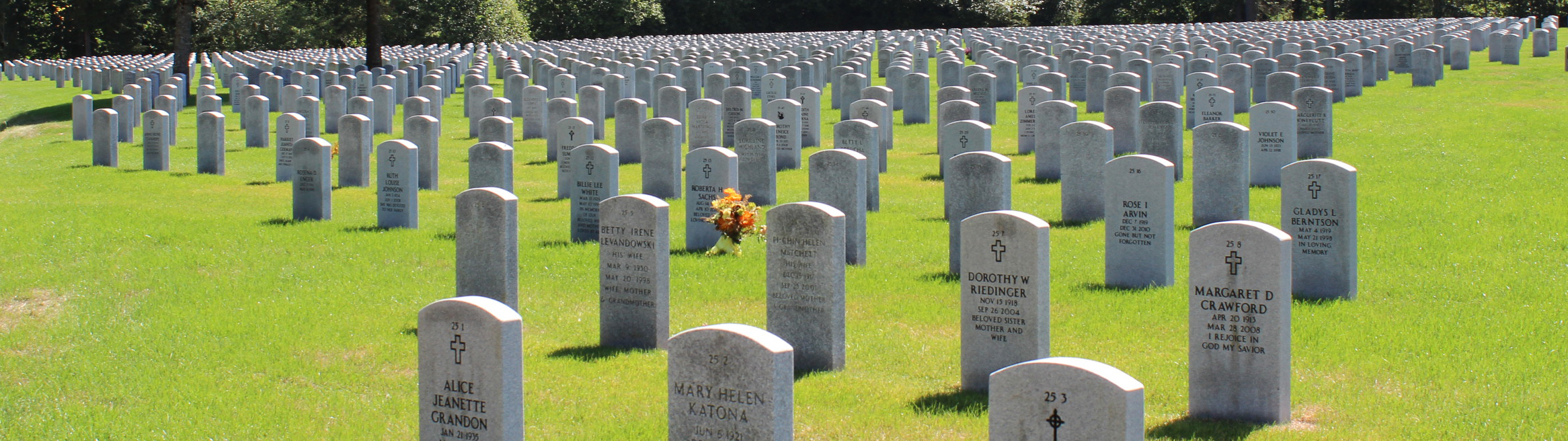 Tahoma National Cemetery Grave Markers